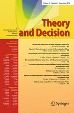 Theory and Decision